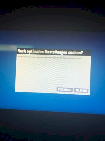 Why does Fortnite keep asking for optimal settings? - RE ...